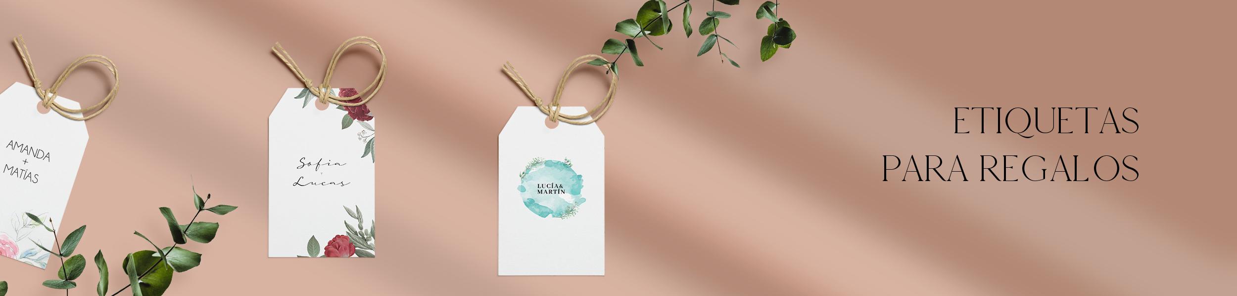 Etiquetas para regalos de matrimonio