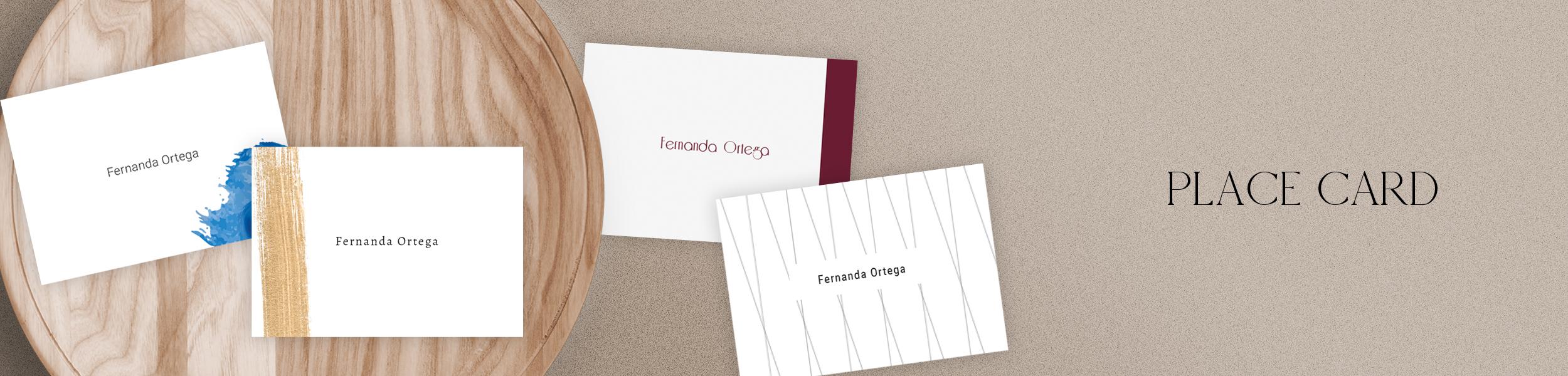 Place card para matrimonios