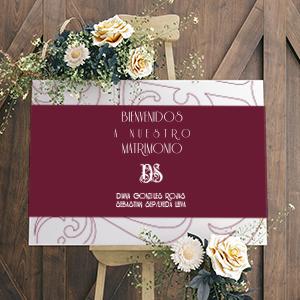 Carteles de bienvenida para matrimonios