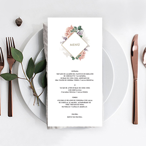 Menu para matrimonios